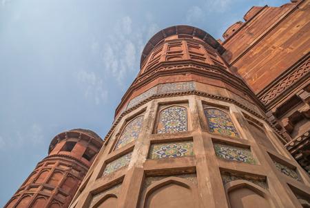 uttar: The Agra Fort in Agra in Uttar Pradesh, India