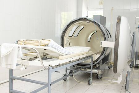 pressure chamber in the clinic hospital. procedure for the penetration of air into the body under pressure
