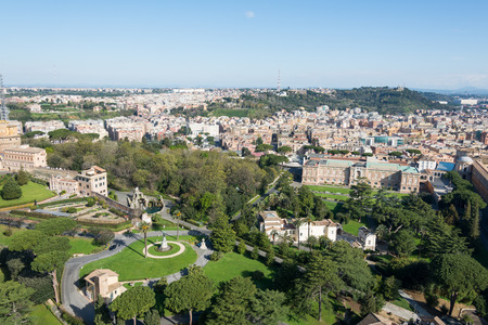 peter's: View from top of St Peters Basilica Editorial