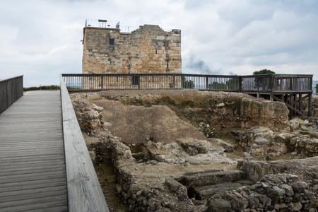 crusaders: Tzipori (Sepphoris)archeological site in Israel