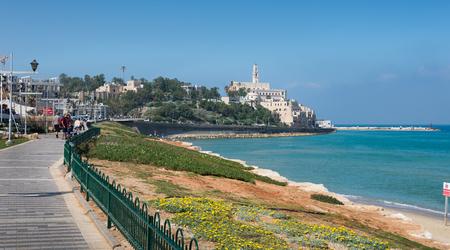 yafo: Jaffa view from Tel Aviv, Israel