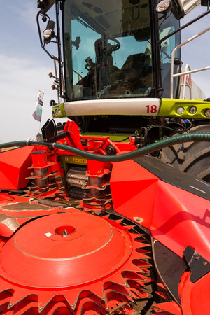 combine: Combine harvester on Shavuout Stock Photo