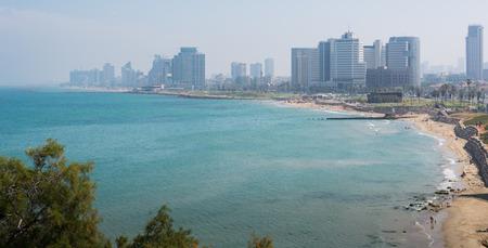 yaffo: Tel Aviv cityscape Foto de archivo