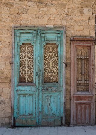 yaffo: Ancient doors in Jaffa, Israel