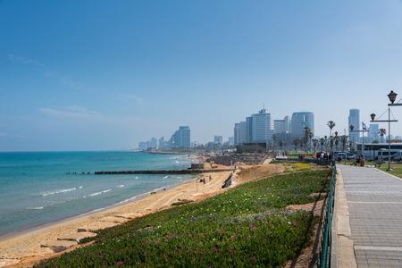 yaffo: Tel Aviv cityscape Editorial