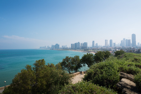 yafo: Tel Aviv cityscape Stock Photo