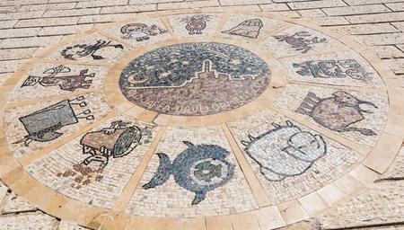 yaffo: Zodiac wheel in Jaffa, Israel
