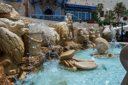 yaffo: Zodiac Fountain in Jaffa, Israel