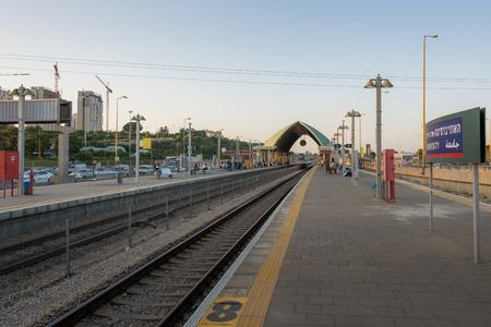 aviv: Tel Aviv university train station, Israel Editorial