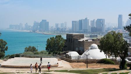 aviv: Tel Aviv cityscape Stock Photo