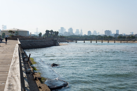 View Tel Aviv promenade, Israel Stock Photo