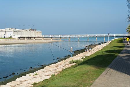tel: Yarkon river in Tel Aviv, Israel
