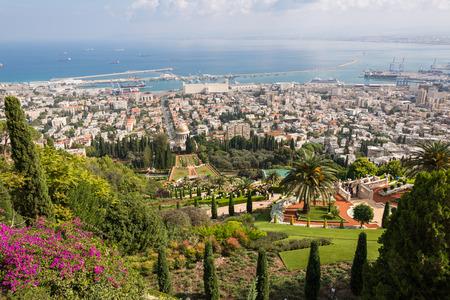 promenade: Haifa from Yefe Nof promenade, Israel
