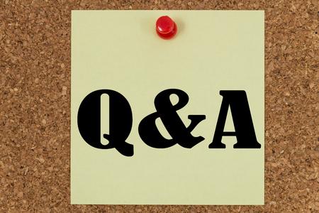 qa: QA written on a note