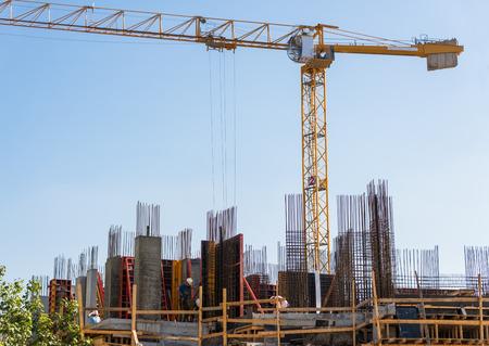 tel aviv: Building construction in Tel Aviv