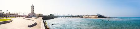 promenade: Panorama of Tel Aviv promenade, Israel