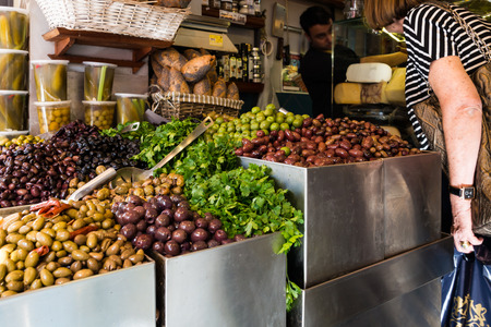 Levinsky Market in Tel Aviv, Israel Stock Photo