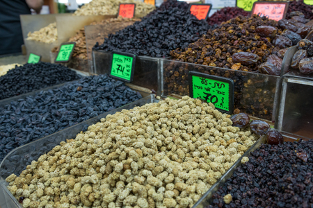 tel: Levinsky Market in Tel Aviv, Israel Stock Photo