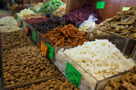 aviv: Levinsky Market in Tel Aviv, Israel Stock Photo