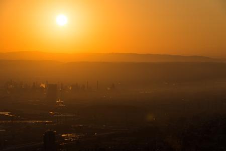 promenade: Sunrise in Haifa as seen from Louis Promenade