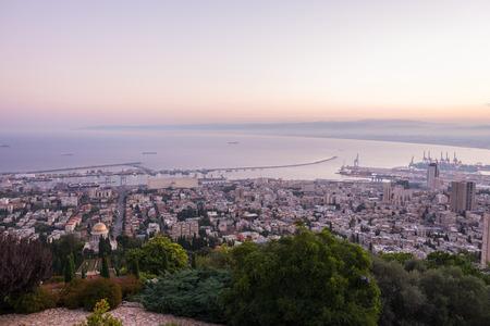 louis: Sunrise in Haifa as seen from Louis Promenade