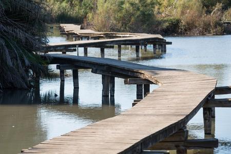 ein: Wooden Bridge at Ein Afec Reserve