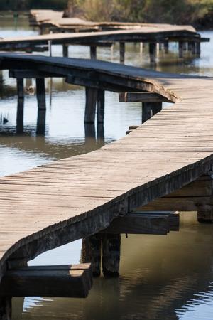 wooden bridge: Wooden Bridge at Ein Afec Reserve