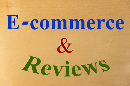 reviews: E-commerce  Reviews Stock Photo