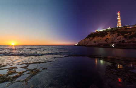 hanikra: View of Rosh Hanikra from Achziv Beach, Israel