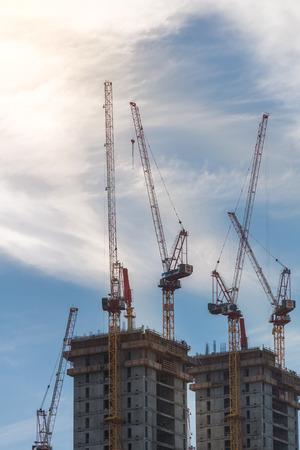 tel: New skyscraper construction in Tel Aviv Stock Photo