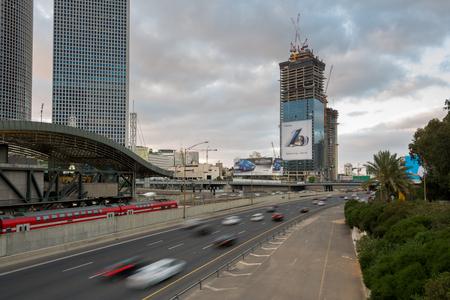 tel aviv: Azrieli train station in Tel Aviv, Israel Editorial