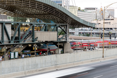 azrieli: Azrieli train station in Tel Aviv, Israel Editorial