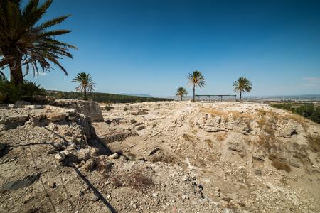 Visit to Megiddo National Park, Israel Stock Photo