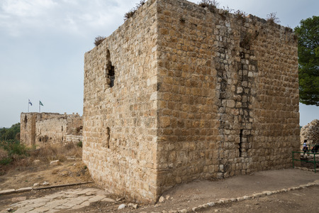 crusaders: Antipatris Fort at Yarkon National Park, Israel