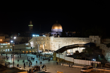 dome of the rock: Hanukkah celebrations in Jerusalem, Israel