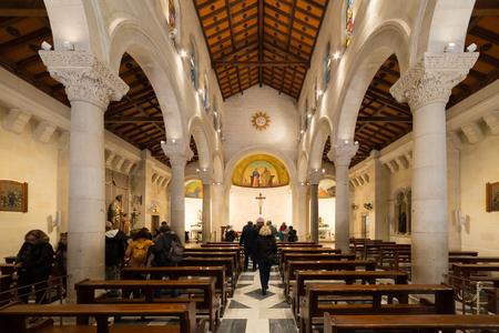 St. Joseph's Church at Nazareth, Israel Stock Photo - 81254485