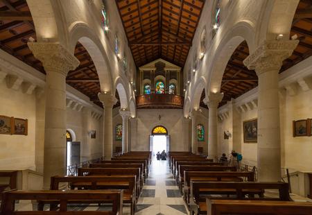 St. Joseph's Church at Nazareth, Israel Stock Photo - 81331020