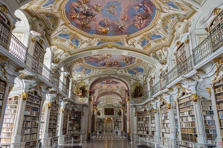 Bezoek aan de abdij van Admont in Stiermarken, Oostenrijk