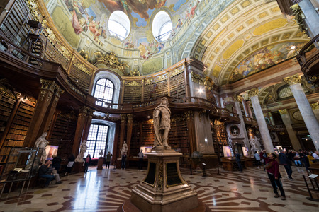 Austrian National Library, Austria's capital 免版税图像 - 92005041