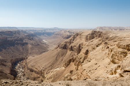 Hiking in Dead Sea area in Israel Stock Photo