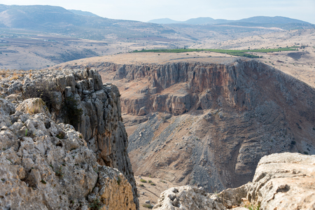 Arbel Nature Reserve And National Park, Israel Stock Photo