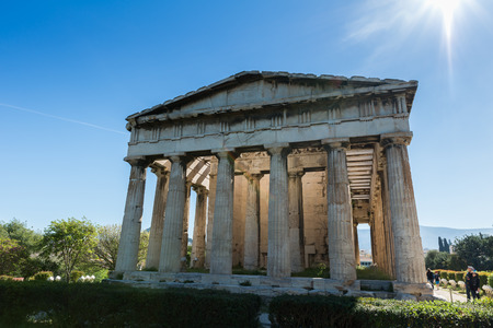 Visiting Athens in Greece, Europe Stock Photo