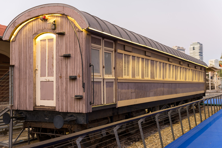 Visiting Old Train Station in Tel-Aviv, Israel