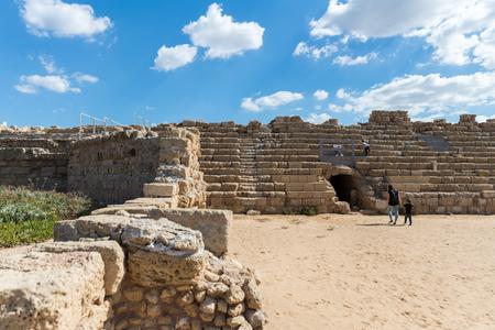 Caesarea National Park in Central Israel Imagens