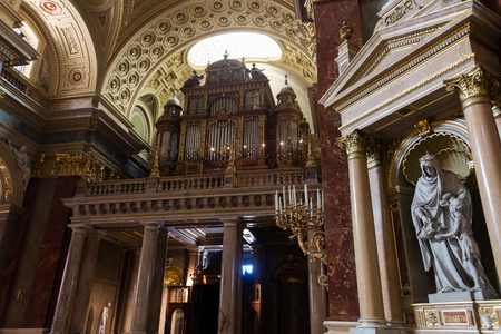St. Stephen's Basilica in Budapest, Hungary at Central Europe