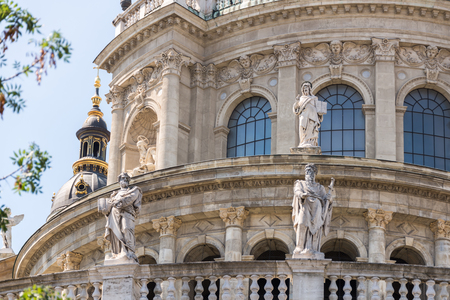 St. Stephens Basilica in Budapest, Hungary at Central Europe