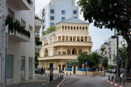 Pagoda House in Tel Aviv, Israel Stock fotó