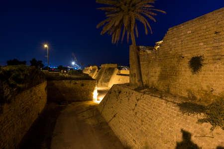 Caesarea National Park, Israel during night