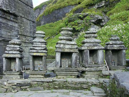 nandi: Himalayas temple, dedicated to lord Shiva, Tungnath, India Stock Photo