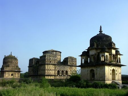 Old temples and palaces, Orchha, India photo